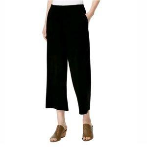 Eileen Fisher wide leg elastic waist crop pants